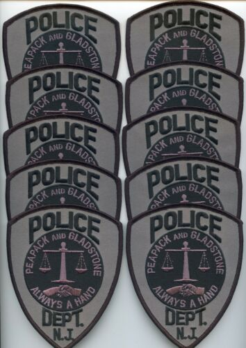 PEAPACK AND GLADSTONE NEW JERSEY Trade Stock 10 Police Patches POLICE PATCH