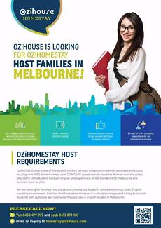 OZiHOMESTAY is looking for HOST FAMILIES in Melbourne!!
