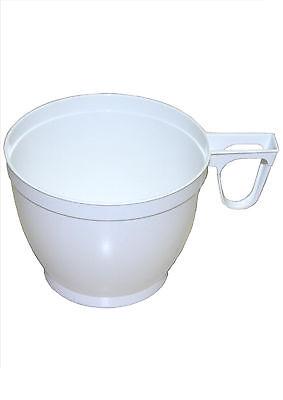 1200 Einweg - Tassen, Kaffee - Tassen, Kaffeebecher, plastik, weiß 180ml