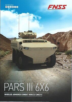 Military Equipment Brochure - FNSS PARS III 6x6 - Armoured Combat Vehicle (MI04) for sale  Sointula