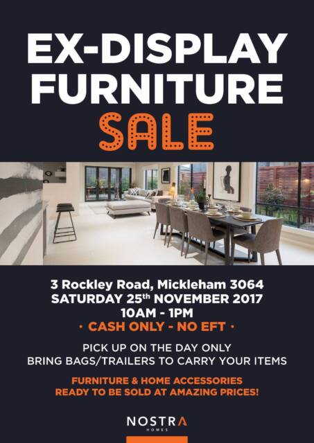 Nostra Homes Ex Display Furniture Sale   Other Furniture   Gumtree  Australia Hume Area   Mickleham   1165542490. Nostra Homes Ex Display Furniture Sale   Other Furniture   Gumtree