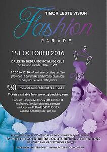 Fashion Parade featuring 'Potter Gold' Bridal Couture Perth Perth City Area Preview