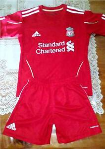 SOCCER Youth Jersey & Shorts ADIDAS-LIVERPOOL-FC Angle Park Port Adelaide Area Preview