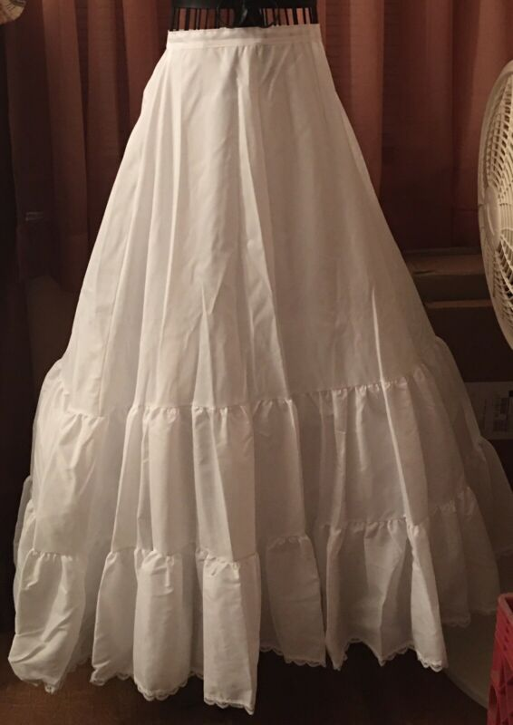 Merry Modes - White Bridal Wedding Crinoline - Size S Small - NWOT