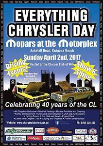 2017 Everything Chrysler Day, Sunday 2nd April Kwinana Beach Kwinana Area Preview