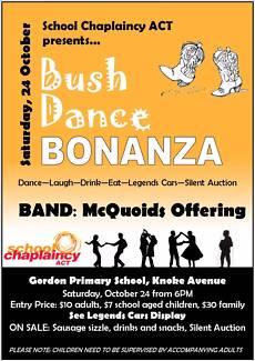 Bush Dance Bonanza in Gordon on Saturday 24 October Theodore Tuggeranong Preview