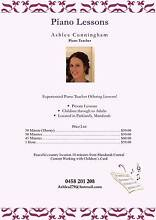 Piano Lessons by Ashlea Kulangoor Maroochydore Area Preview