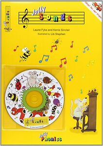 Jolly-Songs-Jolly-Phonics-BOOK-CD-BRAND-NEW-FREE-FIRST-CLASS-DELIVERY