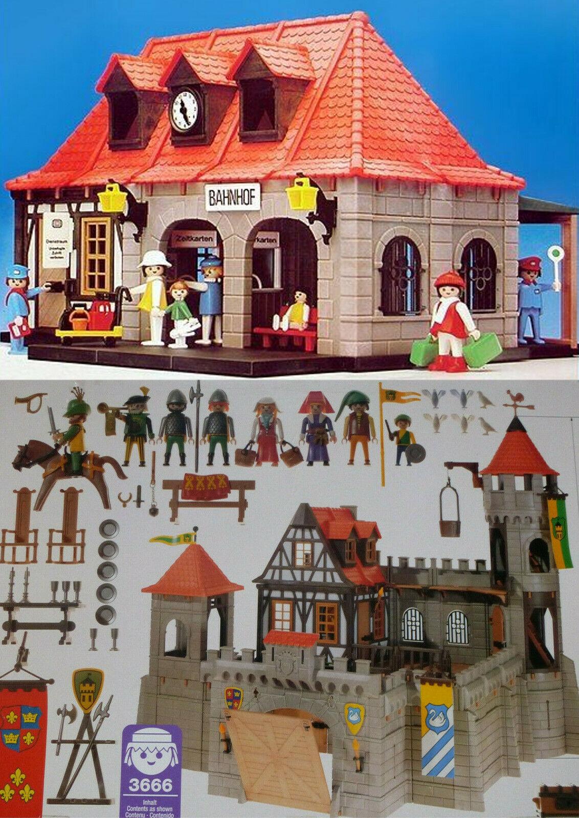 Playmobil Bahnhof 4300 Ritterburg 3666 3859 Fachwerkhaus Ersatzteile aussuchen