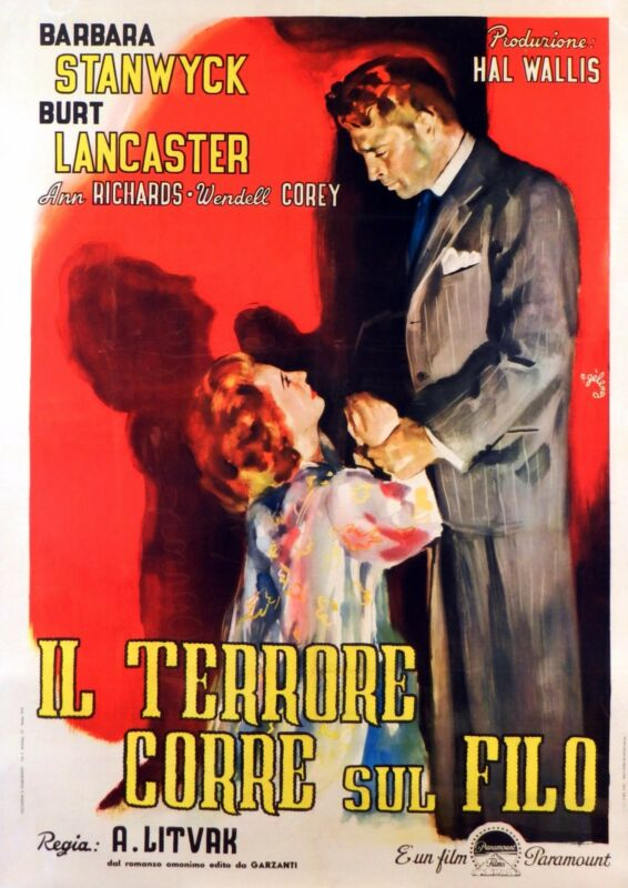 SORRY WRONG NUMBER - ORIGINAL ITALIAN  POSTER - VERY RARE