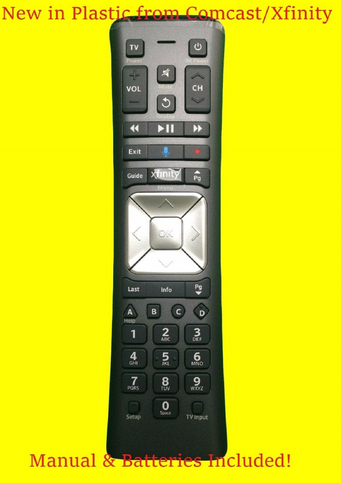 New Xfinity/Comcast VOICE Remote Control XR11 Backlight X1 with Batteries  Manual | Shopping Bin - Search eBay faster