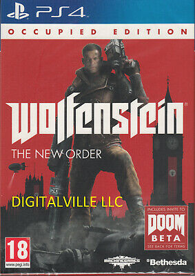 Wolfenstein The New Order Occupied Edition PS4 Brand New Factory Sealed