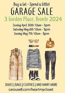 Garage Sale - Shoes | Bags | Clothes and Many More Bronte Eastern Suburbs Preview