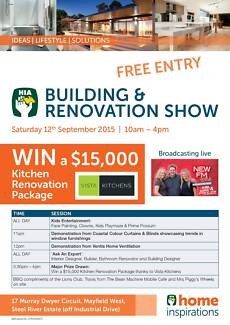 HIA Building & Renovation Show Mayfield West Newcastle Area Preview