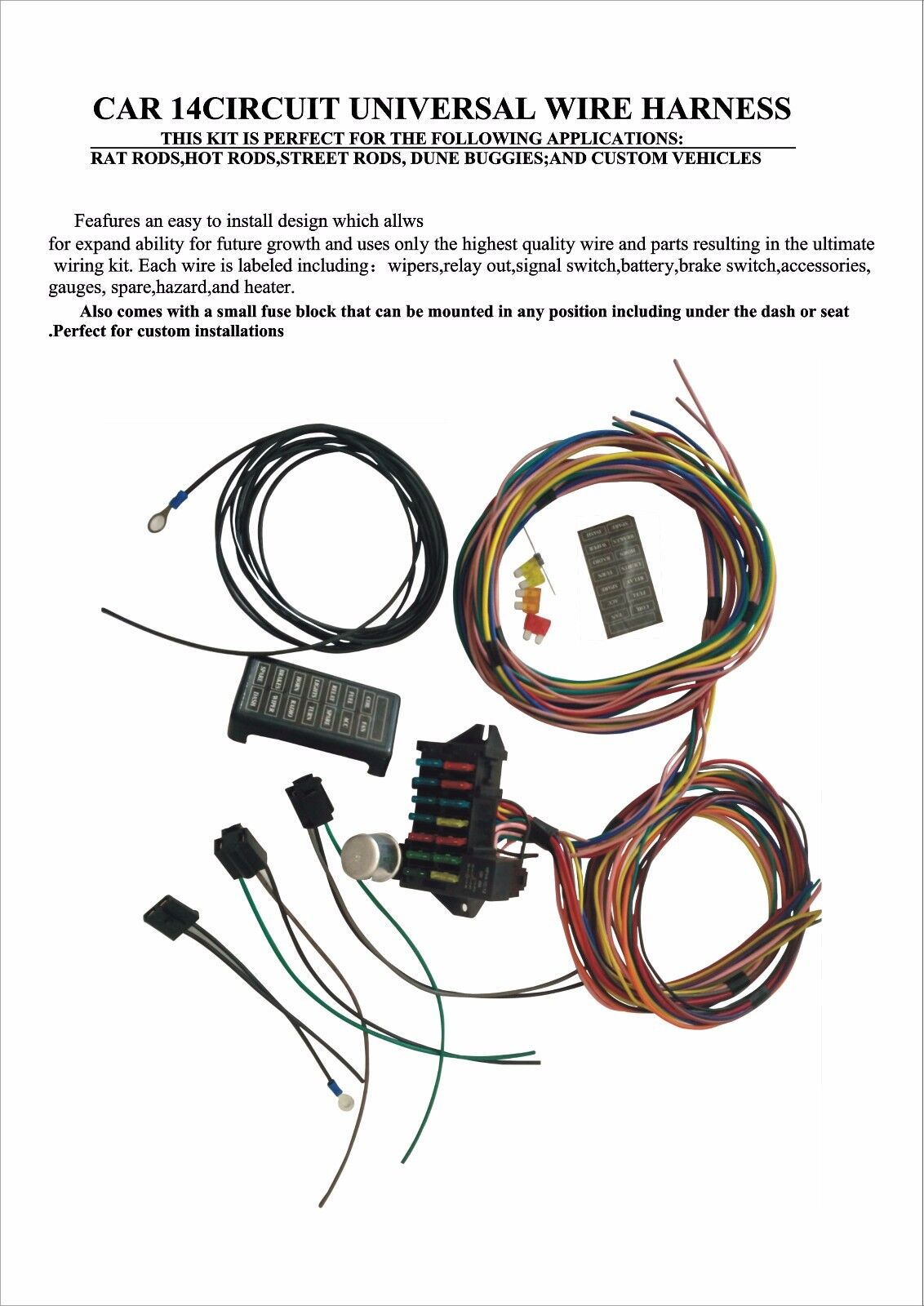 Auto Meter Wiring Kits Electrical Diagrams Classic Hot Rod Diagram 4 Gauge Harness Universal Circuit And Hub U2022 Fuel Level