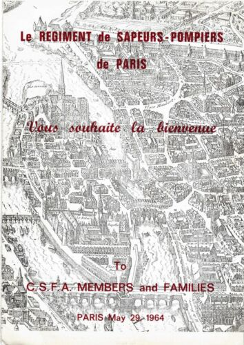May 1954 Paris France Solute to Firefighters of Paris Sapeurs-Pompiers Program