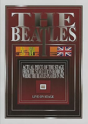 The BEATLES live in concert Star Club wood stage piece
