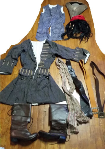 Full Captain Jack Sparrow Pirates of the Carribean Cosplay (missing shirt/pants)