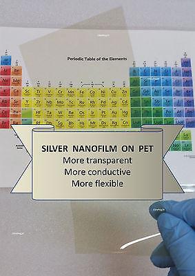 Silver Nanofilm Transparent Conductive Film For Oleds 100mm X 200mm 9 Ohmsqu