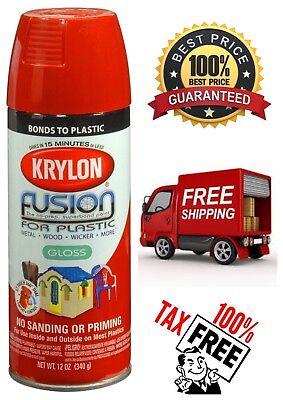 Krylon Fusion For Plastic Aerosol  Spray Paint Quick Dry for Plastic Wood Metal