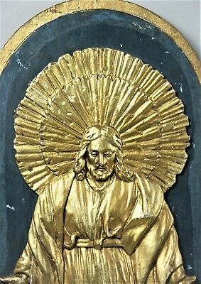 Jesus Christus Jugendstil Relief Schnitzerei 19.Jh Art Nouveau Carving (68)