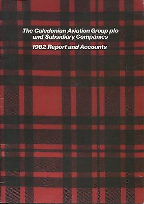 BRITISH CALEDONIAN AIRWAYS ANNUAL REPORT & ACCOUNTS 1982 BCAL