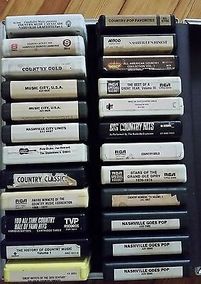 LOT OF 24 COUNTRY WESTERN COMPILATION 8 TRACK TAPES LOT VARIOUS MAIL ORDER ETC