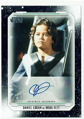 Star Wars Skywalker Saga Autograph Card A-DL Daniel Logan as Boba Fett