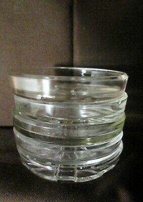 Lot 5 dessous de bouteille verre glass coasters bistrot café restaurant vintage