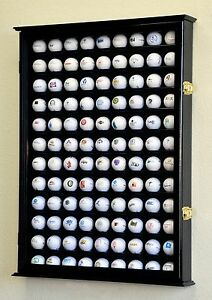 108-Golf-Ball-Display-Case-Cabinet-Wall-Rack-Holder-w-98-UV-Protection-Lockable