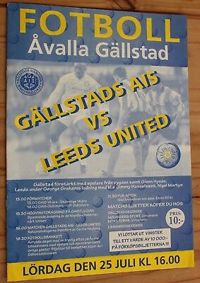 Gallstads  AIS v Leeds United Pre Season Friendly 25th July 1998