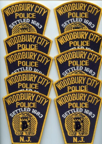 WOODBURY CITY NEW JERSEY Patch Lot Trade Stock 10 Police Patches POLICE PATCH