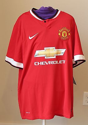 Nike Dri Fit Manchester United Authentic Jersey Mens Large Red Home Chevrolet