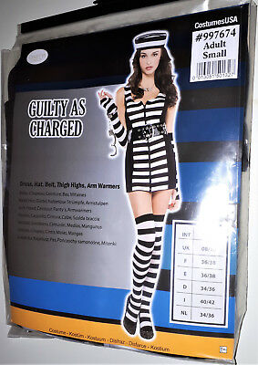 Damen Kostüm Sexy Gefangene Sträfling Knast Gefängnis  M  - Gefangener Kostüm Damen