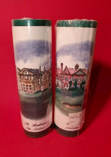 "Two rolls-Imperial Sunworthy Wallpaper Border-Famous Golf Courses-6 3/4""x15 feet"