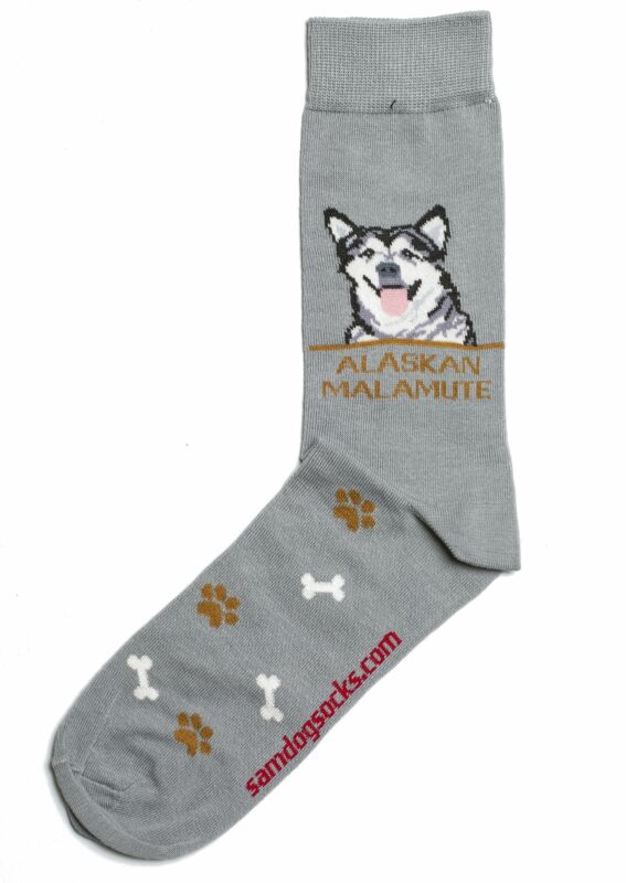 Alaskan Malamute Dog Socks Mens
