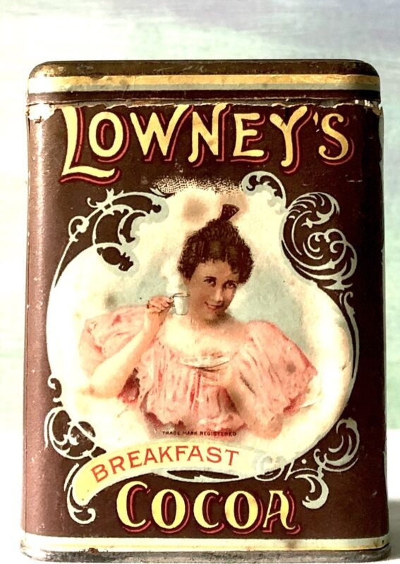 Antique Lowney's Cocoa Tin