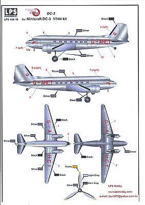 Malev Hungarian Airlines Part 2 DC-3 Hungarian Aero Decals 1//144 LISUNOV Li-2