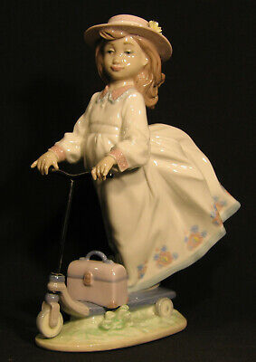 LLADRO Girl on Scooter