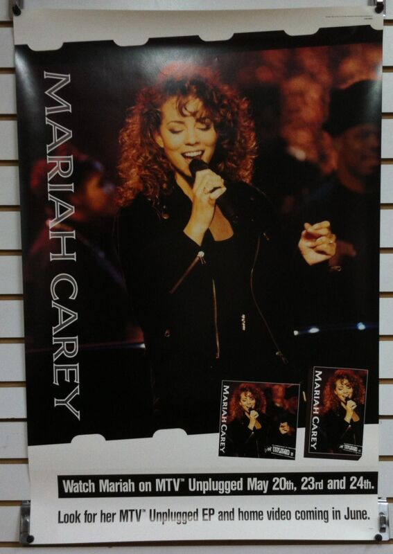 MARIAH CAREY MTV Unplugged 1992 Original Promo Poster