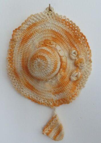 Vintage Hand Crocheted Hat Needle & Thimble Holder