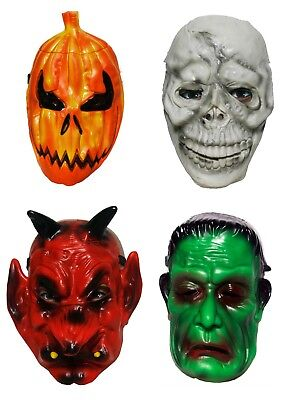 s Instant Fancy Dress Pumpkin Skull Devil Monster (V02884) (Halloween Scary Pumpkin Maske)