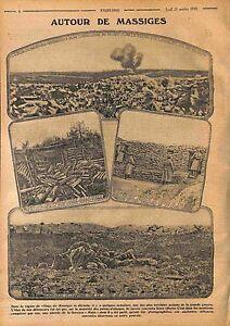 La Main de Massiges Poilus Corps d'armée colonial Bataille de la Marne WWI 1915