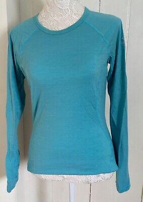 Ladies Icebreaker Merino 200 Turquoise Blue Size Medium Long Sleeved, Base Layer