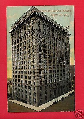 Kansas City Mo National Bank Commerce Building 1911 Bass Bellfontaine O Postcard