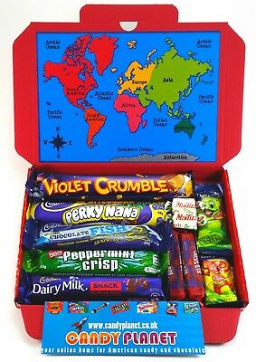 Australian & New Zealand Chocolate Bar Sweets Lolly Selection Box Candy Hamper