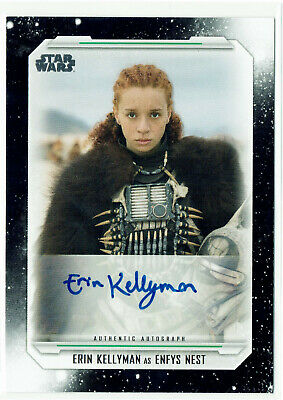 Star Wars Skywalker Saga Autograph Card A-EK Erin Kellyman as Enfys Nest