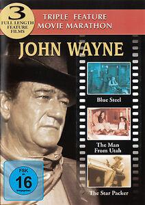 Triple-Feature-Film-Marathon-JOHN-WAYNE-Blue-Steel-The-Man-From-Uth-DVD