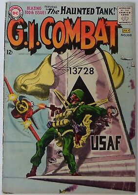 G.I. Combat #100 (Jun-Jul 1963, DC), VG condition, Featuring the Haunted Tank
