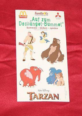 """Walt Disney Tarzan® Sticker """"Auf zum Dschungel-Bummel"""" von 1999 - NEU"""